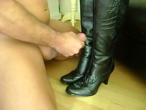 Cumshot on Mistress Boots