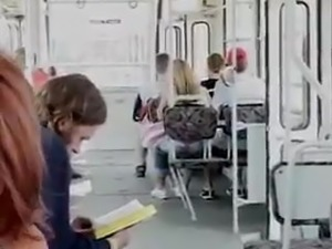 wife in bus